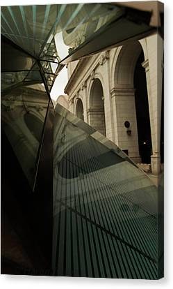 Canvas Print featuring the photograph Arch Reflections by Haren Images- Kriss Haren