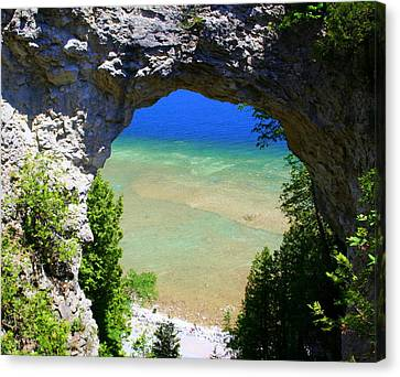 Canvas Print featuring the photograph Arch Rock by Debra Kaye McKrill