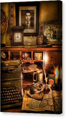 Archaeologist - The Adventurer's Hutch  Canvas Print by Lee Dos Santos
