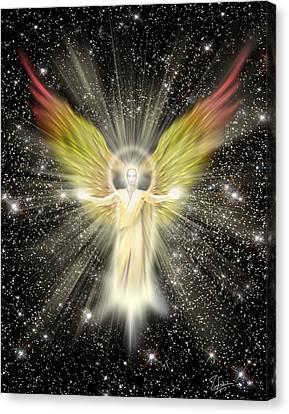 Archangel Gabriel Canvas Print by Endre Balogh