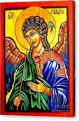 Archangel Gabriel Canvas Print by Ryszard Sleczka