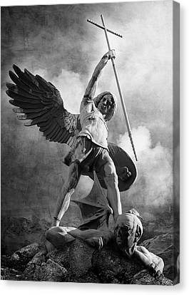 Hamburger Canvas Print - Archangel Michael by Marc Huebner