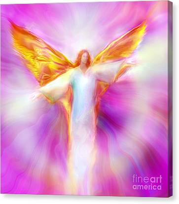 Spiritual Art Canvas Print - Archangel Sandalphon In Flight by Glenyss Bourne
