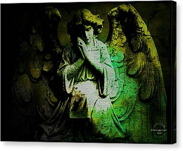 Archangel Uriel Canvas Print by Absinthe Art By Michelle LeAnn Scott