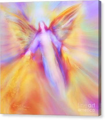 Archangel Uriel In Flight Canvas Print