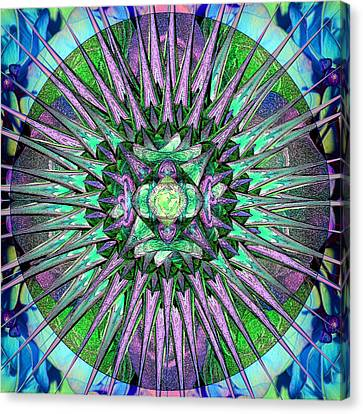 Archangels Gather Mandala Canvas Print