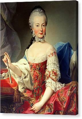 Archduchess Maria Amalia Habsburg-lothringen, 1746-1804, Eighth Child Of Empress Maria Theresa Canvas Print by Martin II Mytens or Meytens