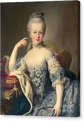Rulers Canvas Print - Archduchess Marie Antoinette Habsburg-lotharingen by Martin II Mytens
