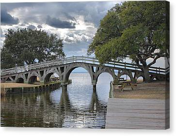 Arched Bridge I Canvas Print by Steven Ainsworth