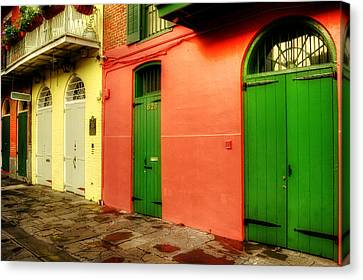 Chrystal Canvas Print - Arched Doors Of Pirates Alley by Chrystal Mimbs
