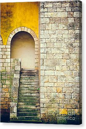 Canvas Print featuring the photograph Arched Entrance by Silvia Ganora