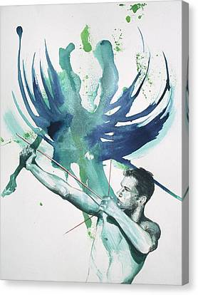 Figures Canvas Print - Archer by Rene Capone