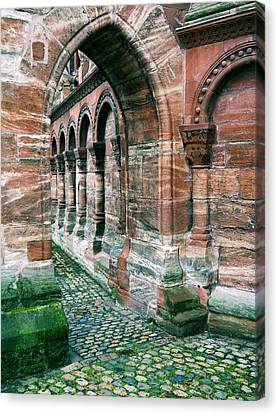 Arches And Cobblestone Canvas Print by Maria Huntley