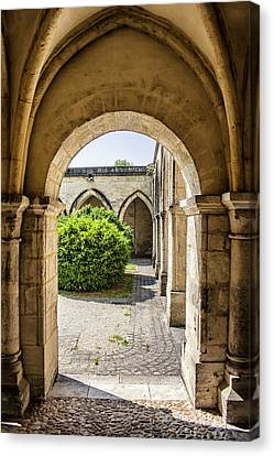 Arches In Perigueux Canvas Print by Georgia Fowler