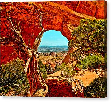 Arches National Park Canvas Print by Bob and Nadine Johnston
