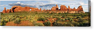 Arches National Park Panorama Canvas Print by Dave Mills