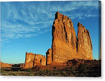 Canvas Print featuring the photograph Arches National Park 47 by Jeff Brunton