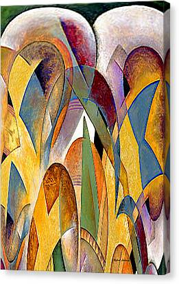 Canvas Print featuring the mixed media Arches by Rafael Salazar