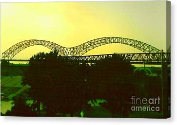 Arches Towards Little Rock And Memphis Canvas Print by Michael Hoard