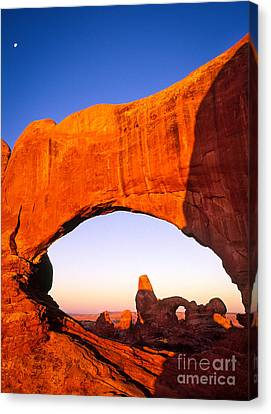Arches Window Canvas Print by Inge Johnsson