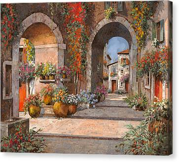 Archi E Sotoportego Canvas Print by Guido Borelli