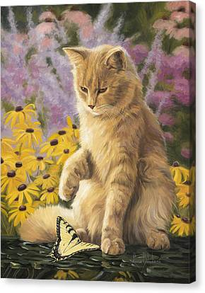 Archibald And Friend Canvas Print by Lucie Bilodeau