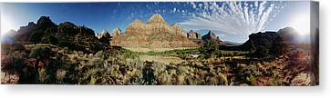 Arching Clouds Over Zion National Park Canvas Print by Panoramic Images
