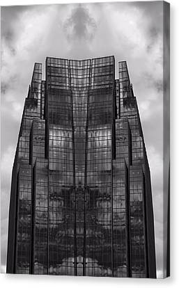 Architect's Dream Black And White Canvas Print by Dan Sproul