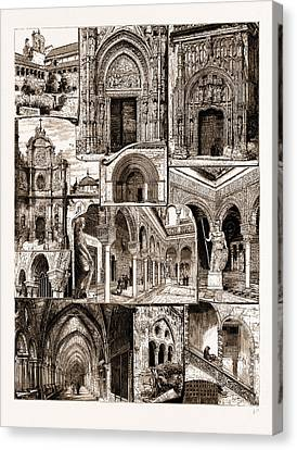 Architectural Art In Spain, 1883 1. Ancient Convent Of San Canvas Print by Litz Collection
