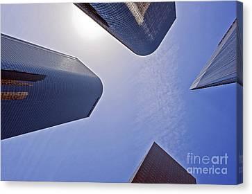 Architectural Bunker Hill Financial District Canvas Print by David Zanzinger