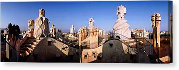Architectural Details Of Rooftop Canvas Print by Panoramic Images