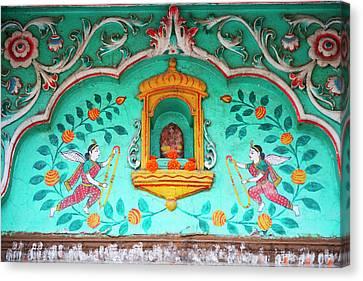 Architectural Details, Varanasi, India Canvas Print by Keren Su