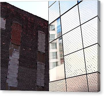 Architectural Juxtaposition On The High Line Canvas Print by Rona Black