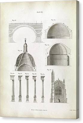 Architectural Structures Canvas Print by Royal Institution Of Great Britain