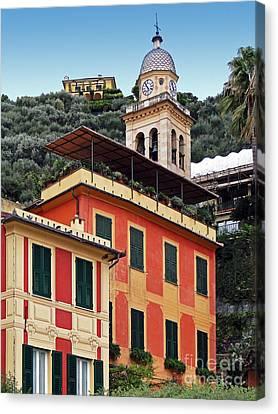 Canvas Print featuring the photograph Architecture In Portofino by Sue Melvin