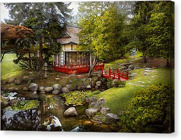 Architecture - Japan - Tranquil Moments  Canvas Print by Mike Savad