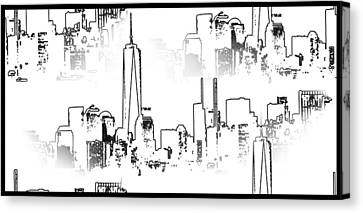 Architecture Of New York City Canvas Print by Dan Sproul