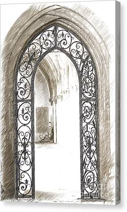 Medieval Entrance Canvas Print - Archway Passage by Heiko Koehrer-Wagner