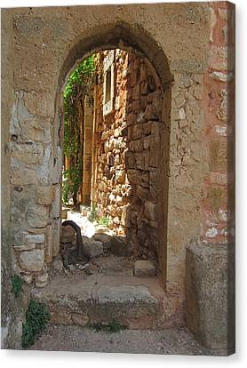 Canvas Print featuring the photograph Archway by Pema Hou