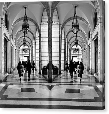 Canvas Print featuring the photograph Archway Trieste by Graham Hawcroft pixsellpix