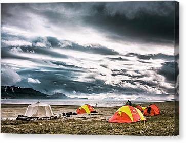 Arctic Camp Canvas Print by Paul Williams