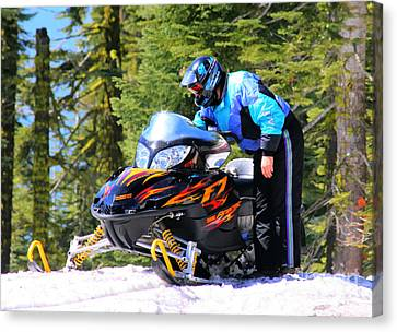 Arctic Cat Snowmobile Canvas Print by Tap On Photo