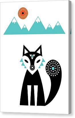 Arctic Fox Canvas Print by Susan Claire
