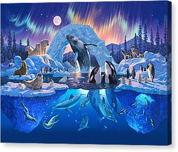 Whale Canvas Print - Arctic Harmony by Chris Heitt