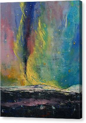 Arctic Lights Canvas Print by Michael Creese