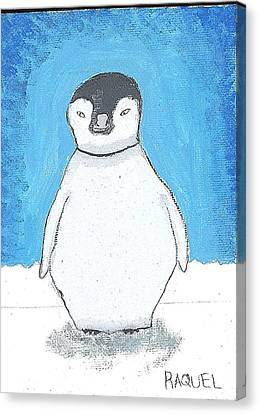 Arctic Penguin Canvas Print by Fred Hanna