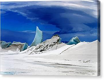 Arctic Pressure Ridge Canvas Print