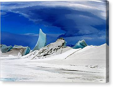Arctic Pressure Ridge Canvas Print by David Blank