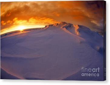 Canvas Print featuring the photograph Arctic Sea Ocean Water Antarctica Winter Snow by Paul Fearn