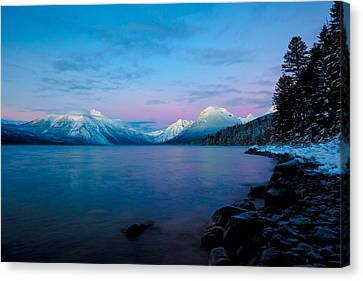 Canvas Print featuring the photograph Arctic Slumber by Aaron Aldrich